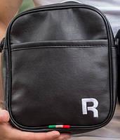 Чоловіча барсетка reebok велика, логотип R білий репліка
