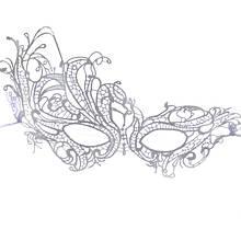 Белая карнавальная маска из кружев