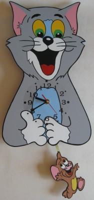 Детские настенные часы с маятником «Том и Джерри», Funny Animals