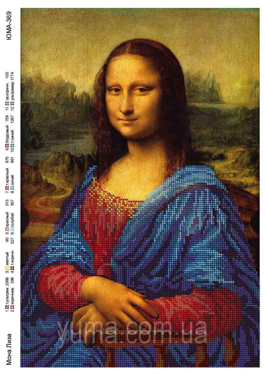 """Схема під вишивку бісером """"Мона Ліза"""""""