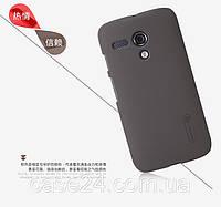 Чехол Nillkin для Motorola Moto G коричневый (+ пленка), фото 1