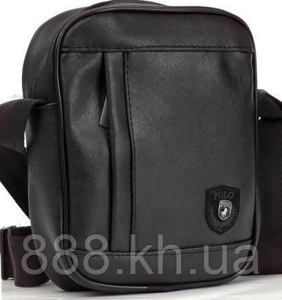 Шкіряна сумка барсетка Polo, мужская сумка мессенджер  реплика