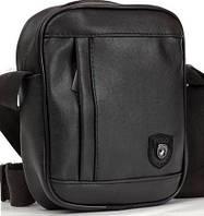 Шкіряна сумка барсетка Polo, мужская сумка мессенджер  реплика, фото 1
