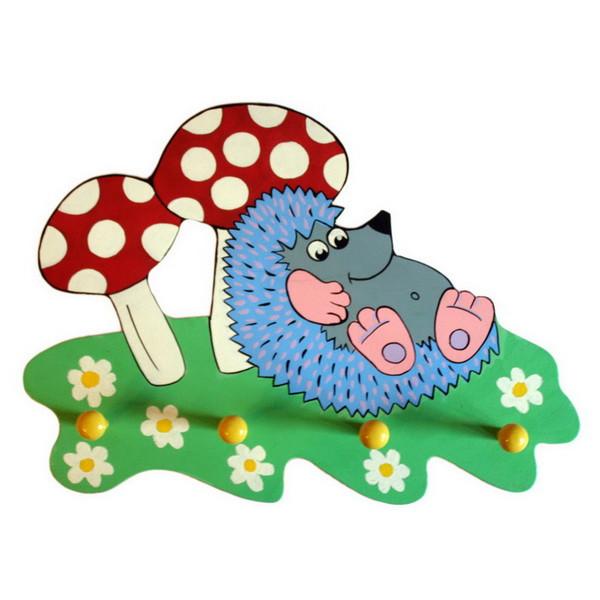 Детская вешалка «Ежик», Funny Animals