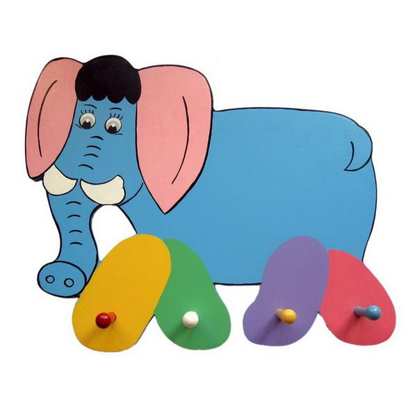 Детская вешалка «Слоник», Funny Animals