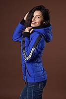 Женская молодежная демисезонная куртка. Код модели К-93-38-17. Цвет электрик.