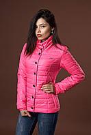 Женская демисезонная куртка. Код модели К-58-12-17. Цвет ярко розовый.