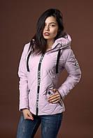 Женская молодежная демисезонная куртка. Код модели К-96-37-17. Цвет пудровый светлый.