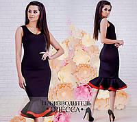 Стильное черное нарядное женское платье. Арт-2224/70