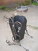 Кованая корзина для мусора с пепельницей , фото 1
