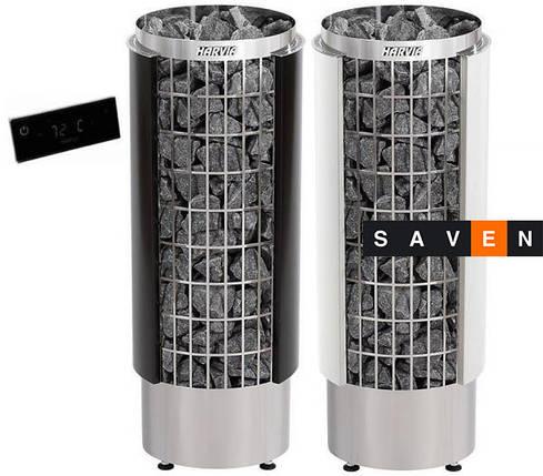 Электрическая каменка Harvia Cilindro PC 90 VHEE белая для сауны и бани, фото 2
