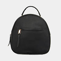 Жіноча сумка-рюкзак чорна  зі штучної шкіри, фото 1