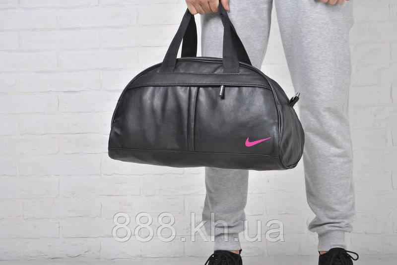 Спортивная сумка Nike логотип розовый  реплика
