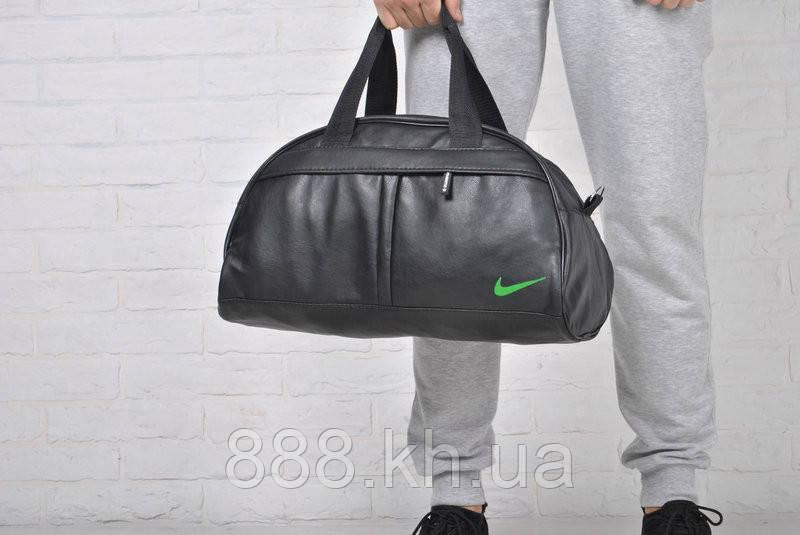 Спортивная сумка Nike логотип салатовый  реплика