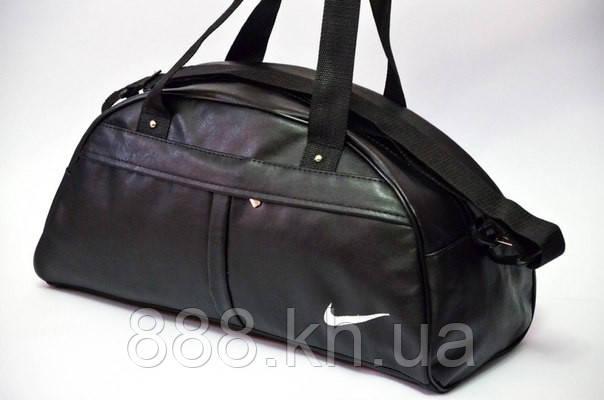Спортивная сумка Nike логотип белый  реплика