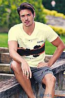 Мужская пижама Sahinler 23505, костюм для дома и отдыха футболка и шорты