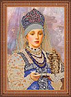 Набор для вышивания бисером на художественном холсте Варенька