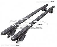 Поперечины на рейлинги чёрные для Dacia Sandero Stepway 2013-... с замком