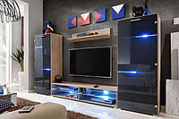 Стенка для гостиной премиум блок комплект настенный комплект салон