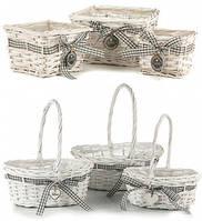 Плетеные корзины, ящики и корзины для хранения