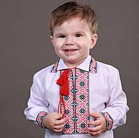 """Вышиванка для мальчика с воротничком на рост 86-110см, """"Богатир"""""""