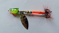 """Блешня """"Мальок"""" Темно-зелений, №3, Aspen Blade, тип2, 6г"""