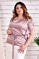 Блузка больших размеров 0463 пудра