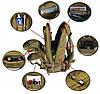 Тактический Штурмовой Военный Рюкзак 35-40л 5 цвета Черный, фото 4