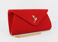 Вечерний велюровый клатч красный, сумочка Rose Heart 103170, расцветки