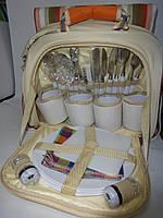 Сумка для пикника со столовыми принадлежностями и пледом на 4-е персоны