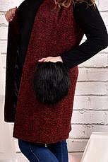 Модный жилет больших размеров 0470 бордо, фото 2