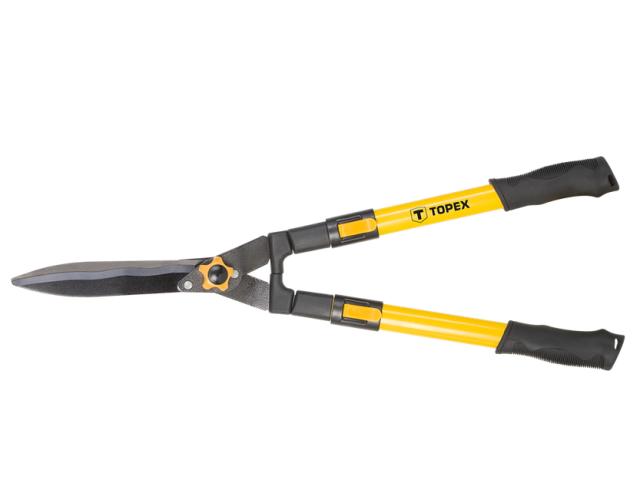 """Ножницы для стрижки кустарников """"Topex"""" с волнистым лезвием 670-880 мм, ручки телескоп арт.15A312"""