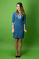 Вышитое стильное платье ЖП-36, размер 44