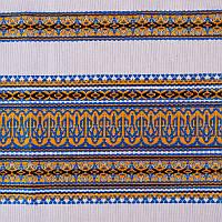 Декоративная качественная ткань вышитая национальным орнаментом ТД-17