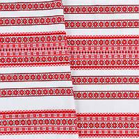 Декоративная красивая ткань вышитая национальным орнаментом ТД-59 3\1