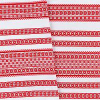 Декоративная красивая ткань вышитая национальным орнаментом ТД-59 4\1