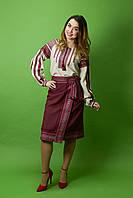 Юбочный костюм с вышивкой ЖК-70, размер 48