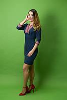 Платье вышитое ЖП-29, размер 48