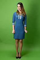 Вышитое стильное платье ЖП-36, размер 48