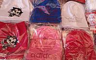 Модные весенние трикотажные шапочки Adidas,Корона,Кошечка для девочек 1-2-3 года ST215