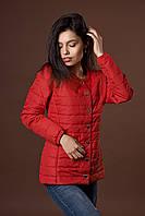 Женская молодежная демисезонная куртка. Код модели К-87-36-17. Цвет красный.