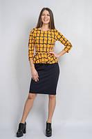 Платье баска желтое
