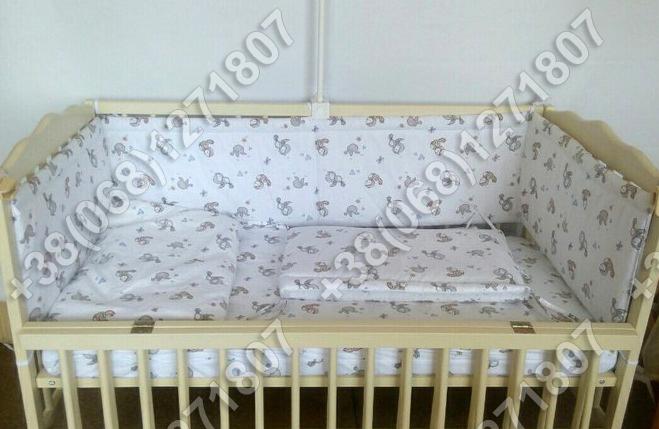 Бортики в детскую кроватку защита бампер Птички, фото 2