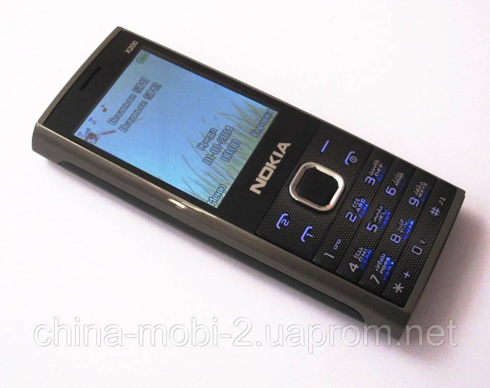 Копия Nokia X200 - dual sim, grey