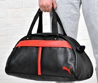 Спортивная сумка Puma красная полоса  реплика