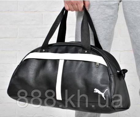 Спортивная сумка Puma белая полоса  реплика