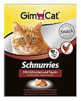 Витамины Gimcat Schnurries для кошек сердечки с курицей, 650 шт.