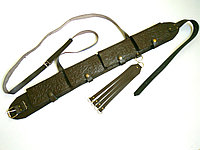 Патронташ кожаный закрытый на 24 патр.(12,16к), фото 1
