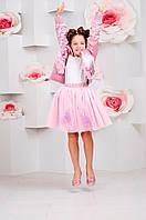 Детская фатиновая юбка со съемными цветами
