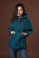 Женская молодежная демисезонная куртка. Код модели К-97-38-17. Цвет изумрудный.
